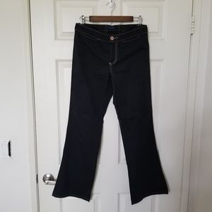 Blue Dot Clothing Size 6 Laced Black Pants Boot
